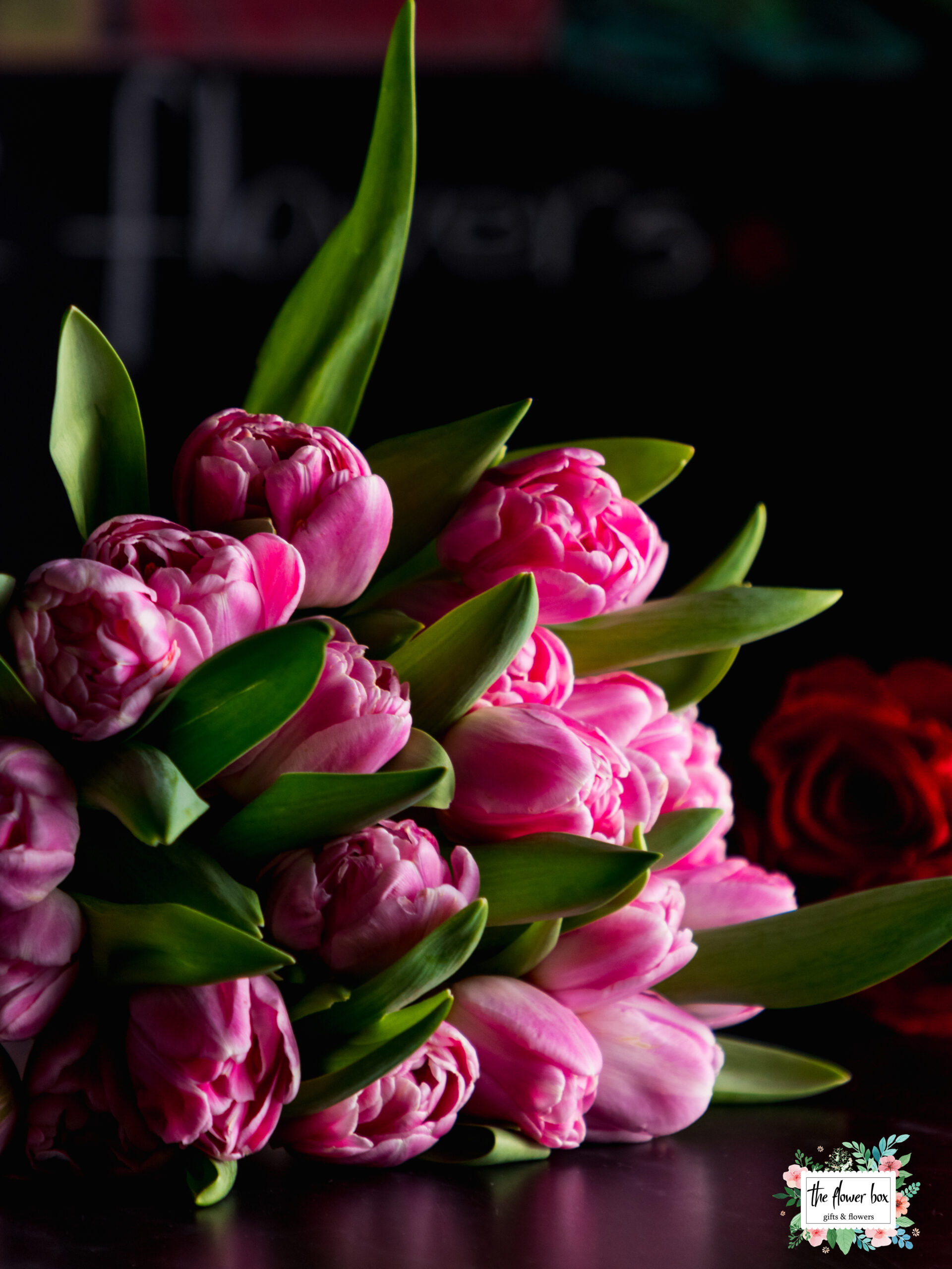 buchet 16 lalele special pink