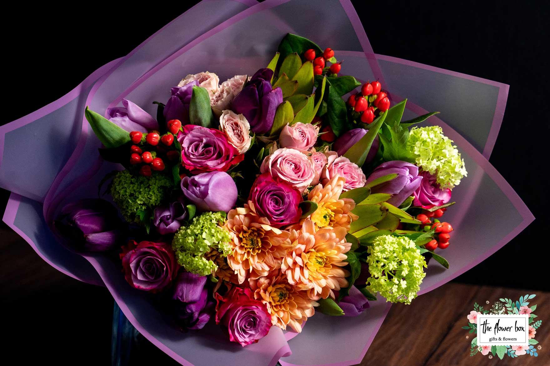 Aranjament floral Sweet Purple