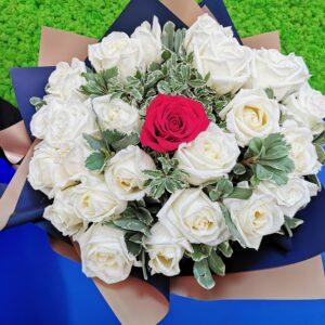 Buchet 24+1 Trandafiri PREMIUM